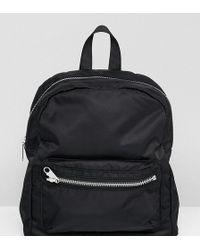 Monki - Nylon Mini Backpack In Black - Lyst