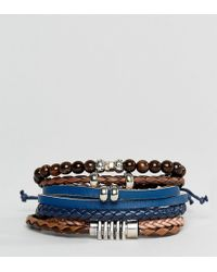 ALDO | Black / Brown Bracelets 4 Pack | Lyst