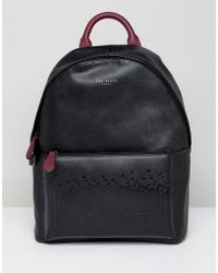 Ted Baker - Poloza Embossed Backpack - Lyst