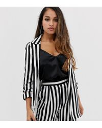 ASOS - Tall Relaxed Suit Blazer In Bold Mono Stripe - Lyst