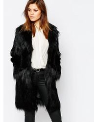 Warehouse - Faux Fur Coat - Lyst