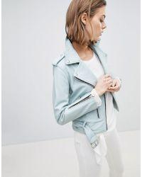 AllSaints - Belted Leather Jacket - Lyst
