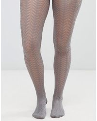 a65871a95 Lyst - ASOS Gipsy Speckled Tights in Blue