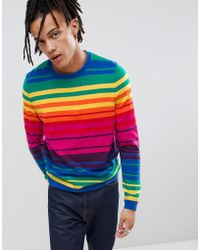 ASOS - Knitted Rainbow Stripe Jumper - Lyst