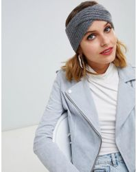 Pieces - Twisted Cashmere Headband - Lyst