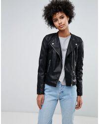 f667e4854e71 Women s Vero Moda Leather jackets On Sale - Lyst