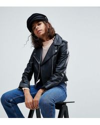 ASOS | Leather Jacket With Ring Pull Details | Lyst