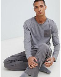 Tokyo Laundry - Cotton Fleck Long Sleeve Pyjamas In Grey - Lyst