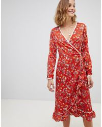 Free People - Covent Garden Floral Wrap Dress - Lyst