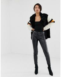 Blank NYC - Noir Faux Leather Trousers - Lyst