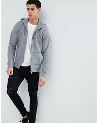 Lacoste - Hooded Logo Sweat In Grey - Lyst