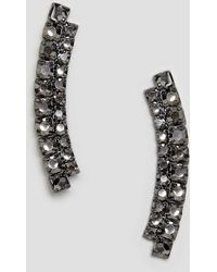 ASOS - Earrings In Double Row Crystal Bar Design - Lyst