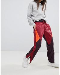 Nike - Colourblock Woven Popper Track Trousers - Lyst