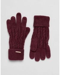 Alice Hannah - Cable Knit Gloves - Lyst