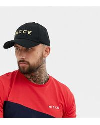 Nicce London - Nicce Baseball Cap In Black With Gold Logo Exclusive To Asos - Lyst