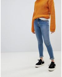 ONLY - Skinny Jean With Frayed Hem - Lyst