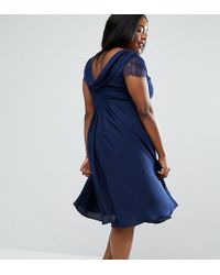 ASOS - Kate Lace Cowl Back Midi Dress - Lyst
