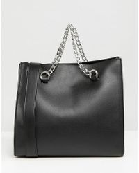 Pull&Bear - Chain Detail Shoulder Bag - Lyst
