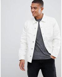 New Look - Worker Jacket In Cream - Lyst