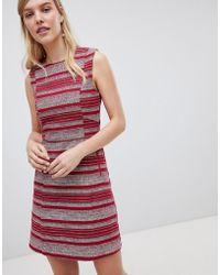 Oasis - Striped Ruffle Hem Shift Dress - Lyst
