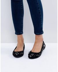 New Look - Stars Planet Ballet Flat - Lyst