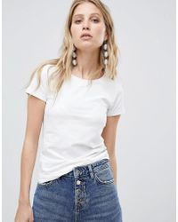 Mango - Short Sleeved Basic Tee - Lyst