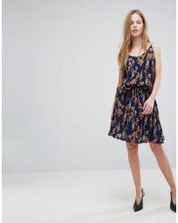 Just Female - Tia Floral Print Skater Skirt - Lyst