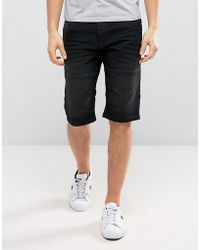 Solid | Denim Shorts In Washed Black | Lyst