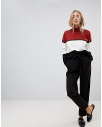 ONLY - Michelle Belted Straight Trousers - Lyst