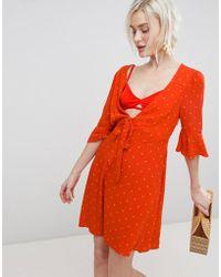 Free People - All Yours Tie Waist Mini Dress - Lyst