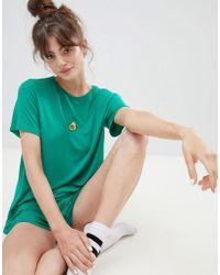 Adolescent Clothing - Embroidered Avocado T-shirt And Shorts Pyjama Set - Lyst