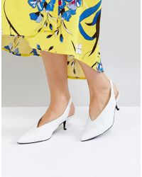 Gestuz - White Leather Sling Back Shoe - Lyst