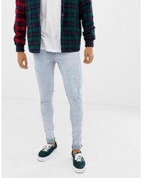 Dr. Denim - Leroy Super Skinny Jeans Grinded Blue - Lyst