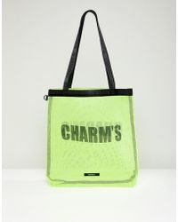 Charm's - Charm's Tote Bag In Neon Yellow - Lyst