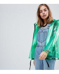 ASOS - Asos Design Petite Rain Jacket With Contrast Binding - Lyst