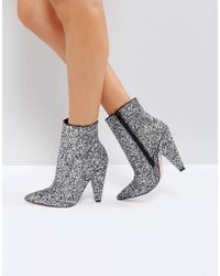 ASOS - Eileen Heeled Ankle Boots - Lyst