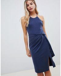 StyleStalker - Mischa Belted Mini Dress - Lyst