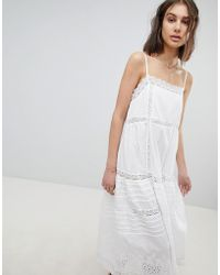 Free People - Broderie Midaxi Dress - Lyst