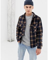 Native Youth - Checked Shacket - Lyst