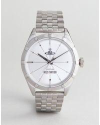 Vivienne Westwood - Vv192slsl Conduit Bracelet Watch In Silver - Lyst