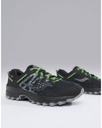 Saucony - Running Excursion Tr12 Gtx Trail Trainers In Black - Lyst