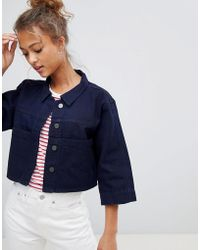 WÅVEN - Tak Cropped Denim Shirt - Lyst