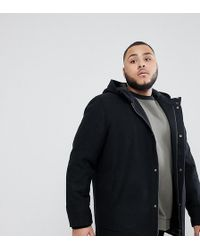 Only & Sons - Plus Hooded Wool Parka - Lyst