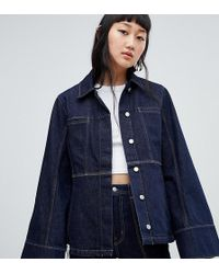 b018acec104e Weekday Girlfriend Denim Trucker Jacket in Blue - Lyst