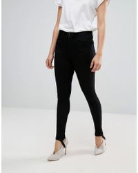 ONLY - Denim Skinny Jeans With Stirrup - Lyst