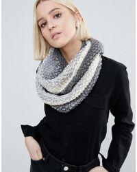 Eugenia Kim   Genie By Dakota Cream And Grey Ombre Knit Scarf   Lyst
