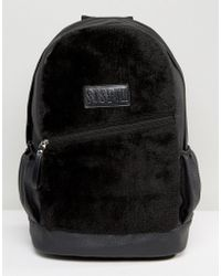 SYSTVM - Backpack In Black Faux Suede - Lyst