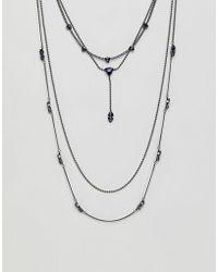 Steve Madden - Multirow Pendant Necklace - Lyst