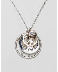 Cheap Monday - Multi Size Peace Charm Necklace - Lyst