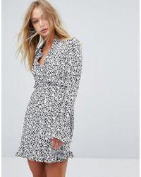 Millie Mackintosh - Printed Frill Dress - Lyst
